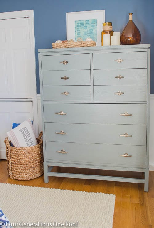 Shop the Look: Gorgeous Navy blue master bedroom makeover