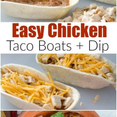 Mexican Chicken Taco Boat {Dip}