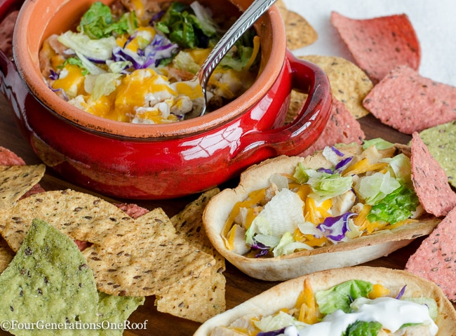 Mexican Chicken Taco Boats {dip}