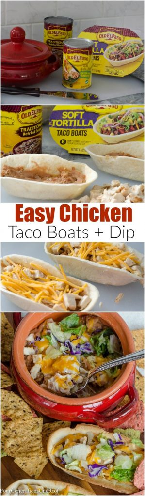 Mexican Chicken Taco Boats dip