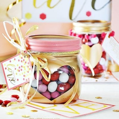 Beautiful Valentine Mason Jar Ideas