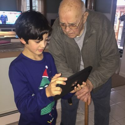 My grandfather and the ipad is like watching a dinosaur ride a hoverboard