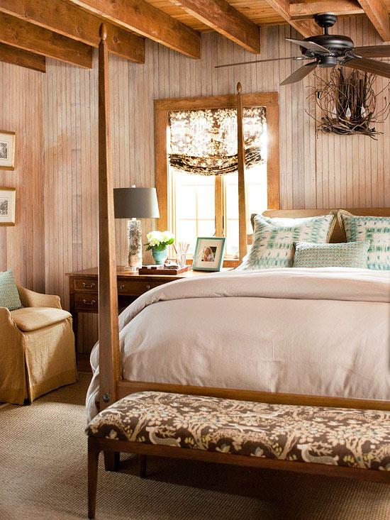 36-cozy-master-bedrooms-rustic-wood-tones+aqua