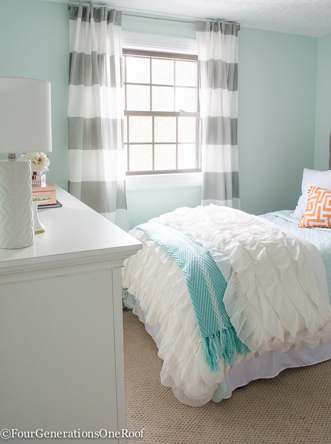 Sophisticated Girls Bedroom Teen Makeover Four Generations One Roof