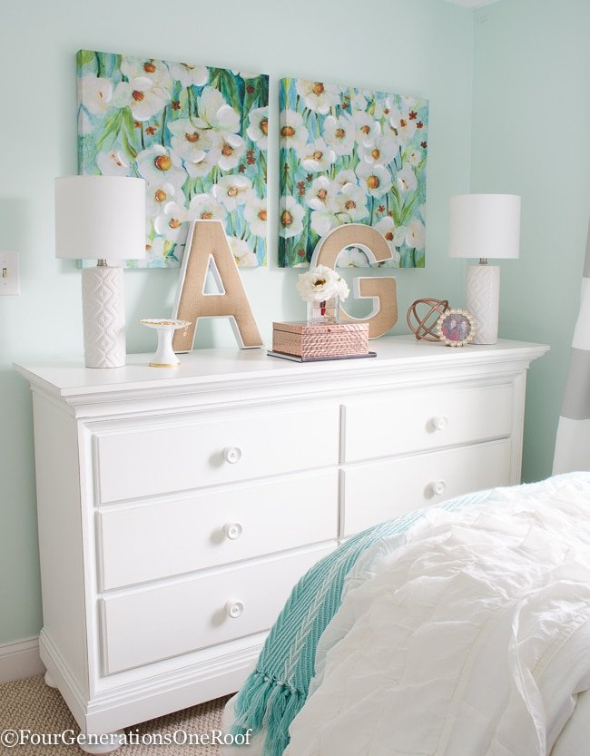 Girl bedroom makeover resource list four generations one for Pictures of teenage girl rooms