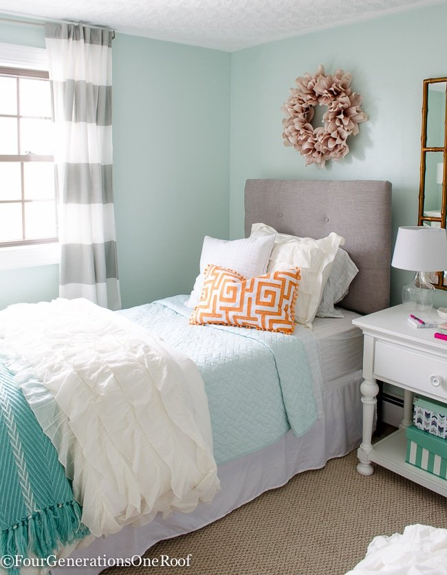 Sophisticated Girls Bedroom Teen Makeover - Four Generations One Roof
