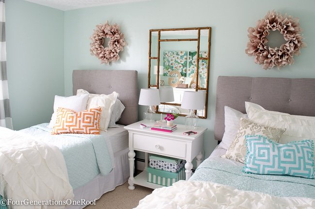 Sophisticated Girls Bedroom Teen Makeover - Four Generations ...