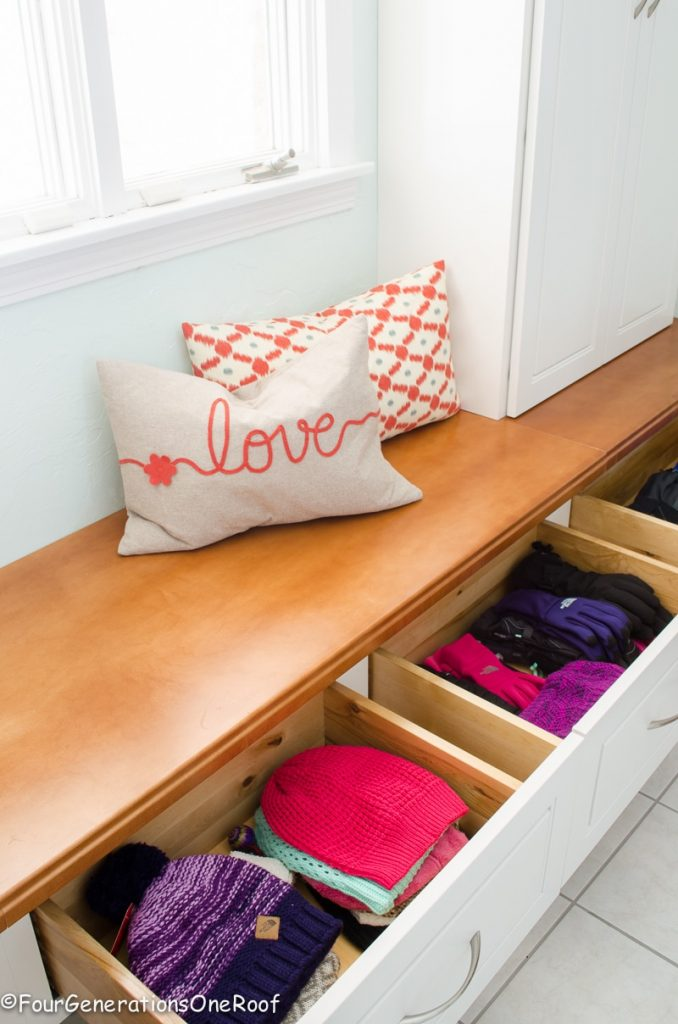 Gorgeous mudroom makeover