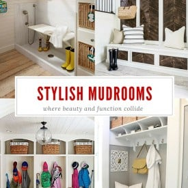 Stylish and Functional Mudroom Ideas featured on Four Generations One Roof