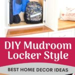mudroom cabinet wall locker style storage for coats and hats