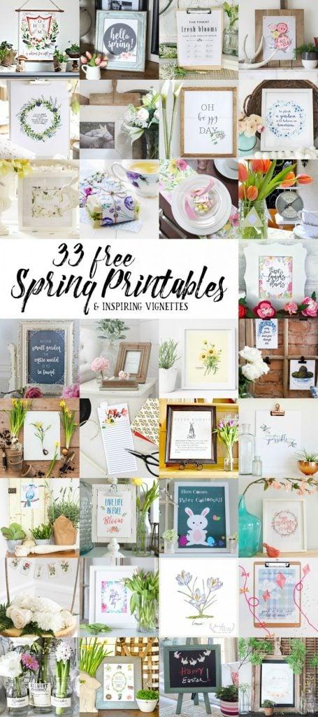 Adorable Easter Bunny Bunting Printable - 33 free spring printables