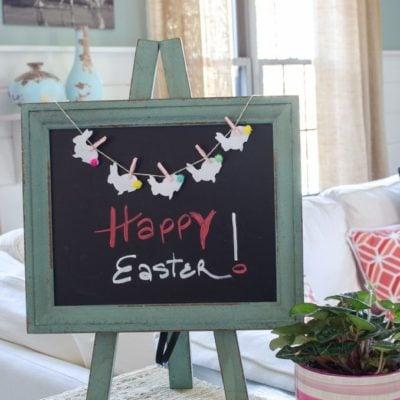 Adorable Easter Bunny Bunting Printable