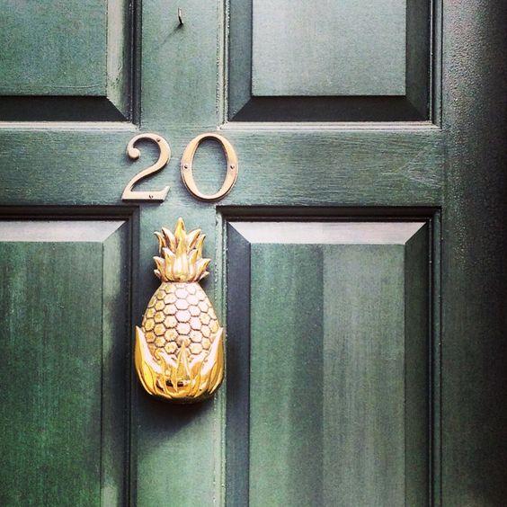 front porch ideas /Pineapple Door Knocker