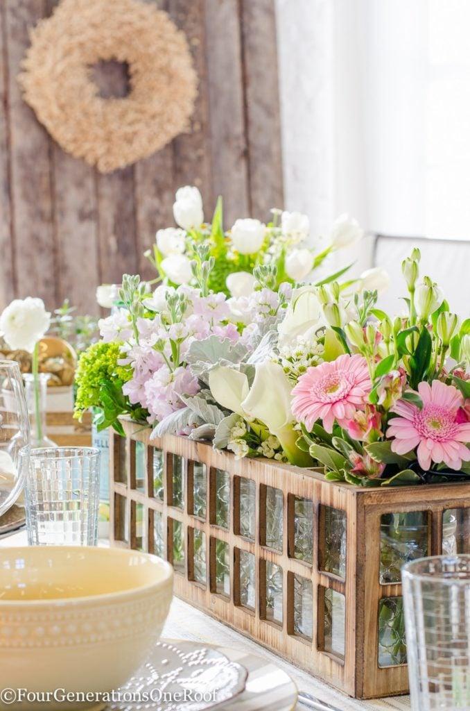 DIY Flower Centerpiece -12