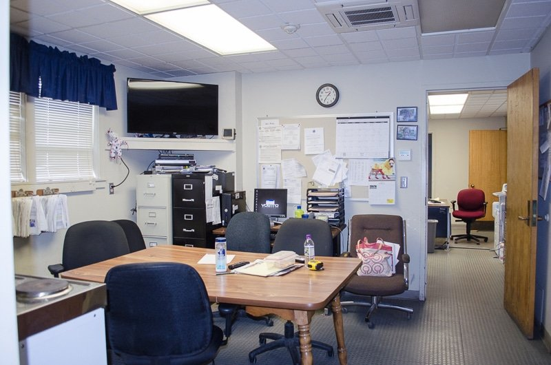 Police Station Makeover - Reveal / Community Service Makeover featuring a break room