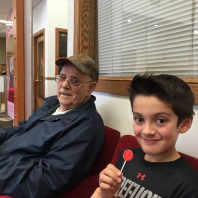 My grandfather is on the mend and a lesson in banking