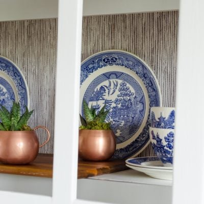 Peel and Stick Wallpaper {tutorial}