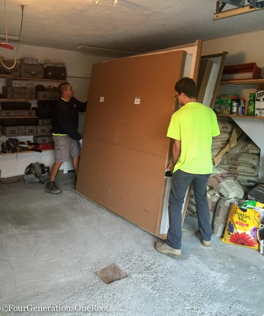 Foyer Renovation Vista Grand Doors delivery