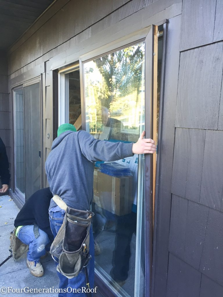 How to install a door {Foyer door renovation} - Four Generations ...