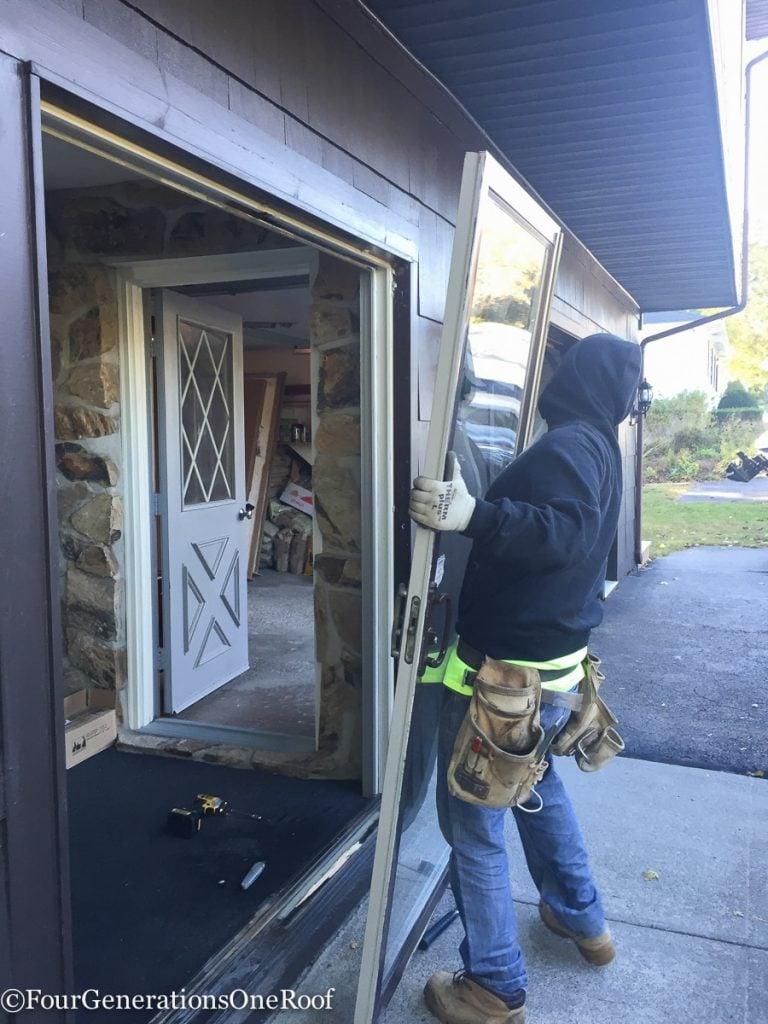 How to install a door / Installing new doors foyer renovation