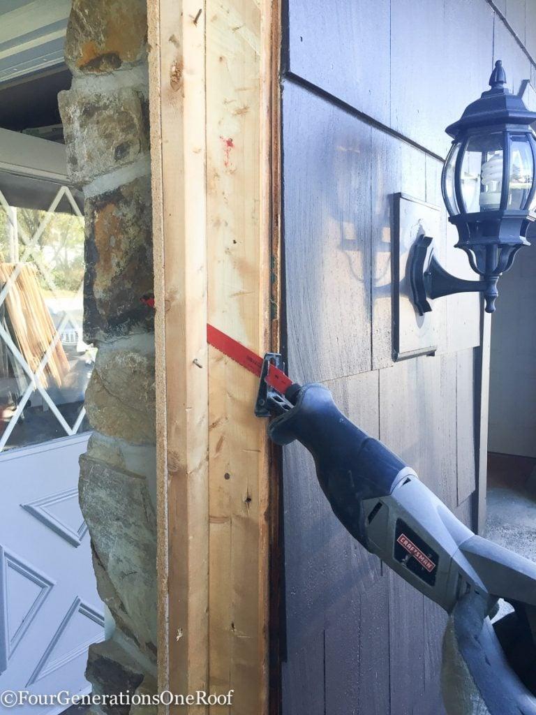How to install a door / Installing new doors foyer renovation-24