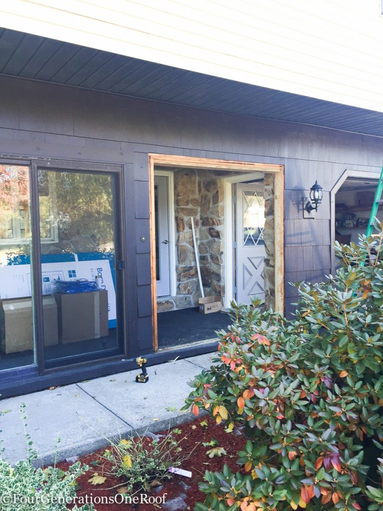 How to install a door / Installing new doors foyer renovation-25