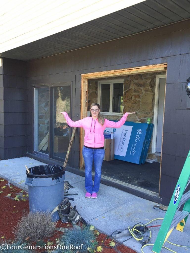 How to install a door / Installing new doors foyer renovation-28