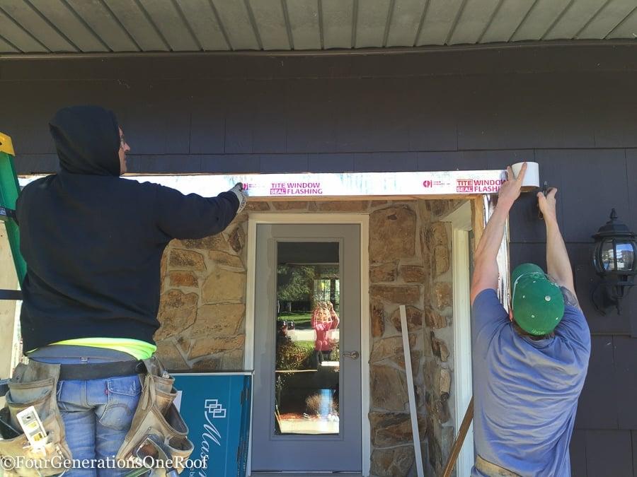 how to install a door / Installing new doors foyer renovation-31