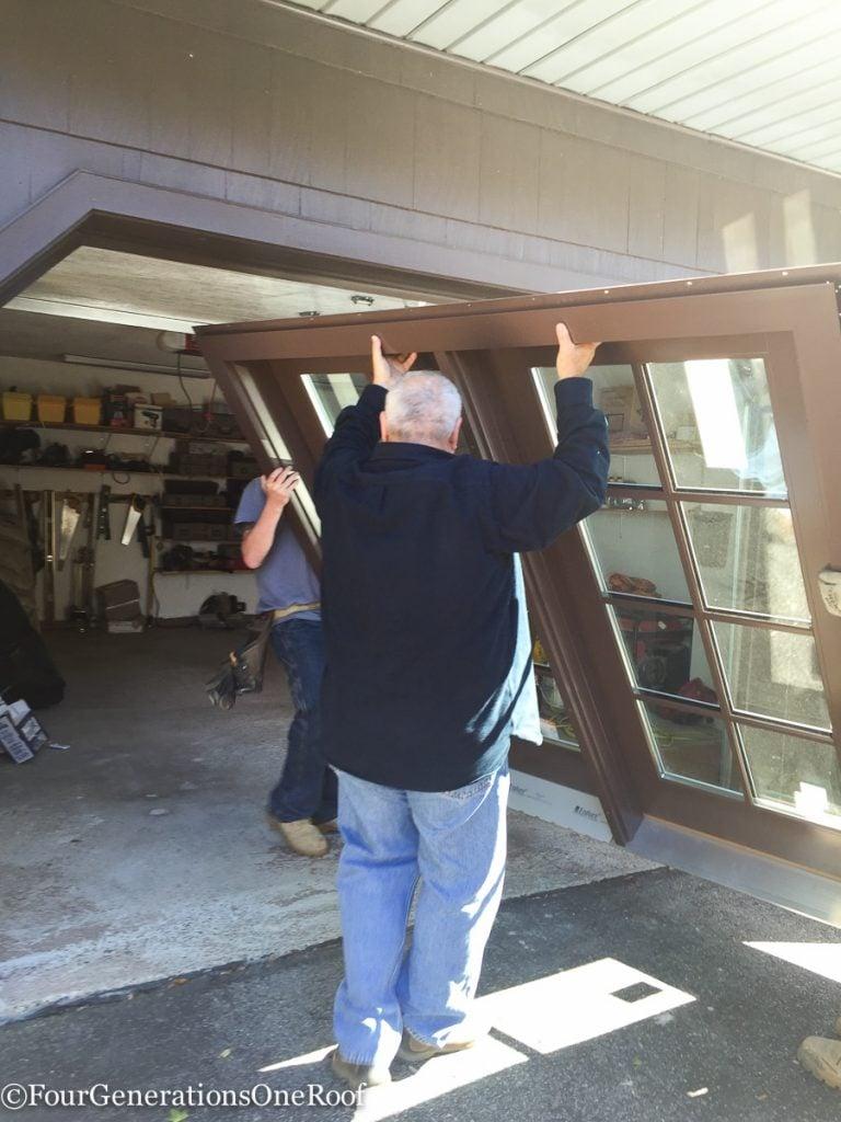 how to install a door / Installing new doors foyer renovation-32