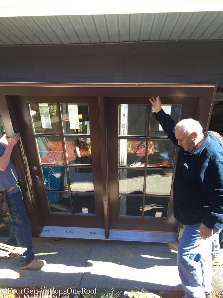 How to install a door / Installing new doors foyer renovation-34