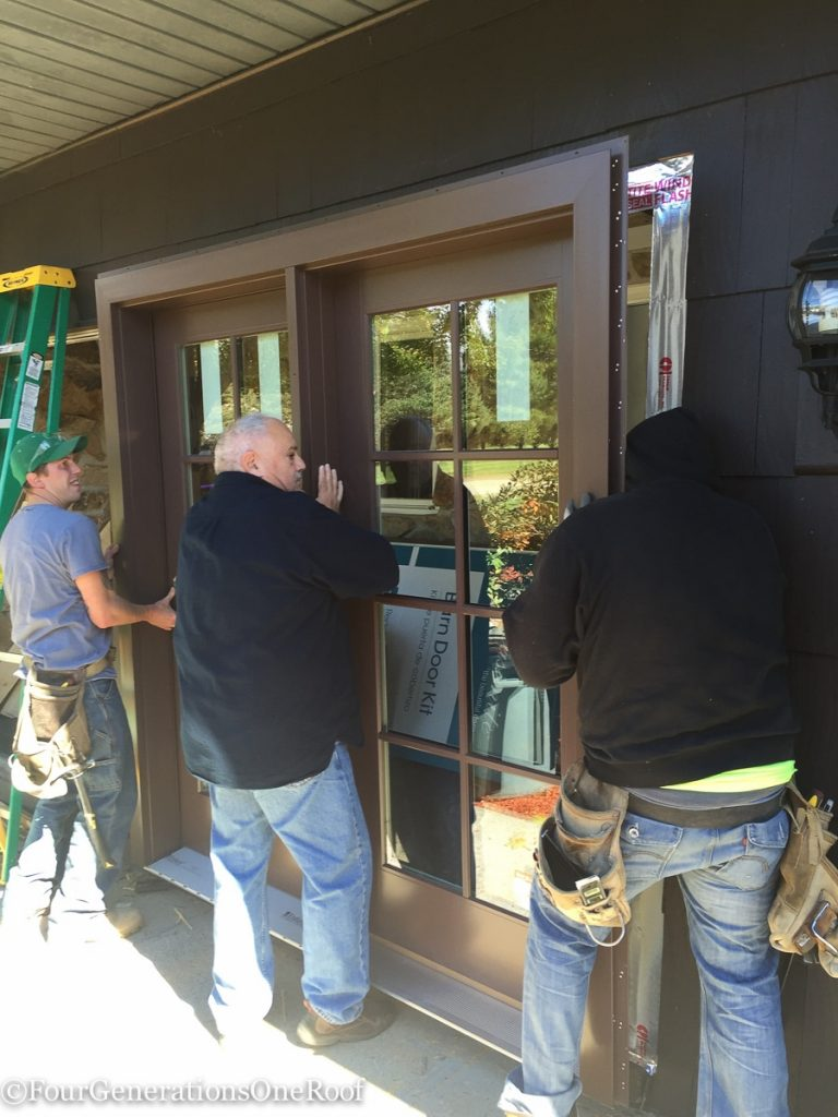 how to install a door / Installing new doors foyer renovation-36