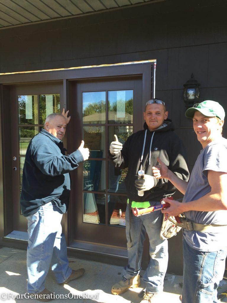 how to install a door / Installing new doors foyer renovation-37