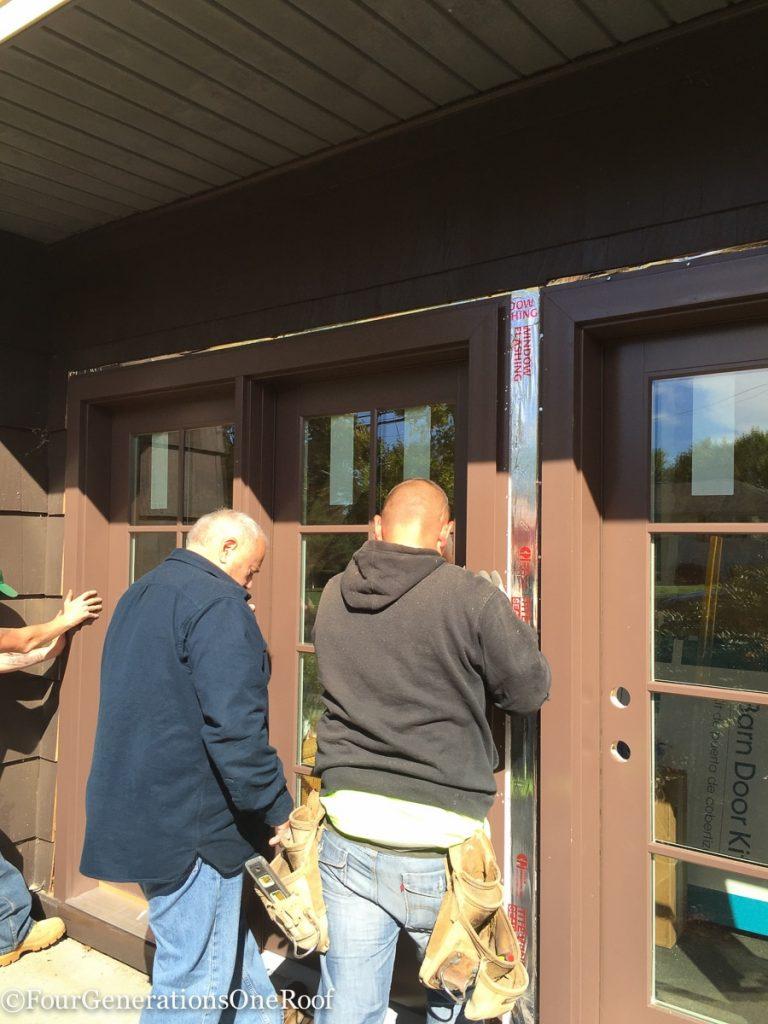 How to install a door / Installing new doors foyer renovation-43