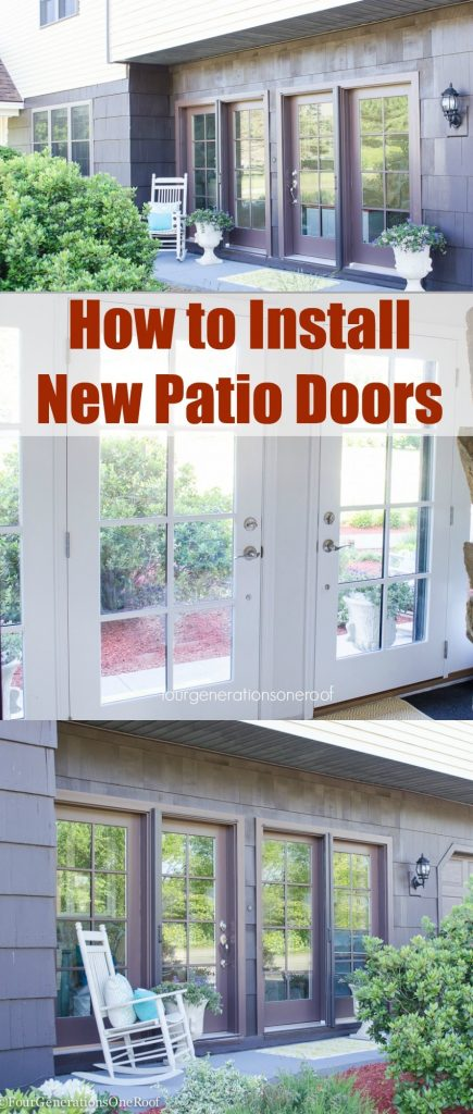 New patio doors Vista Grande Foyer Renovation/How to install new patio doors/curb appeal