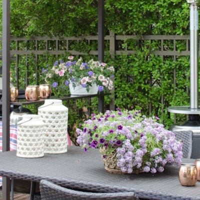 Entertaining {Our Outdoor Patio Father's Day}