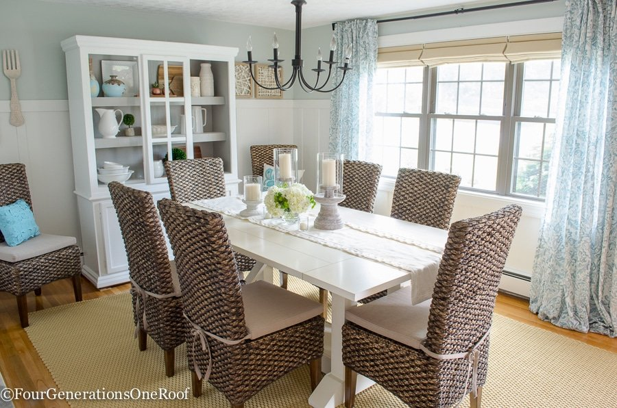 Dining Room Makeover {coastal} - Four Generations One Roof