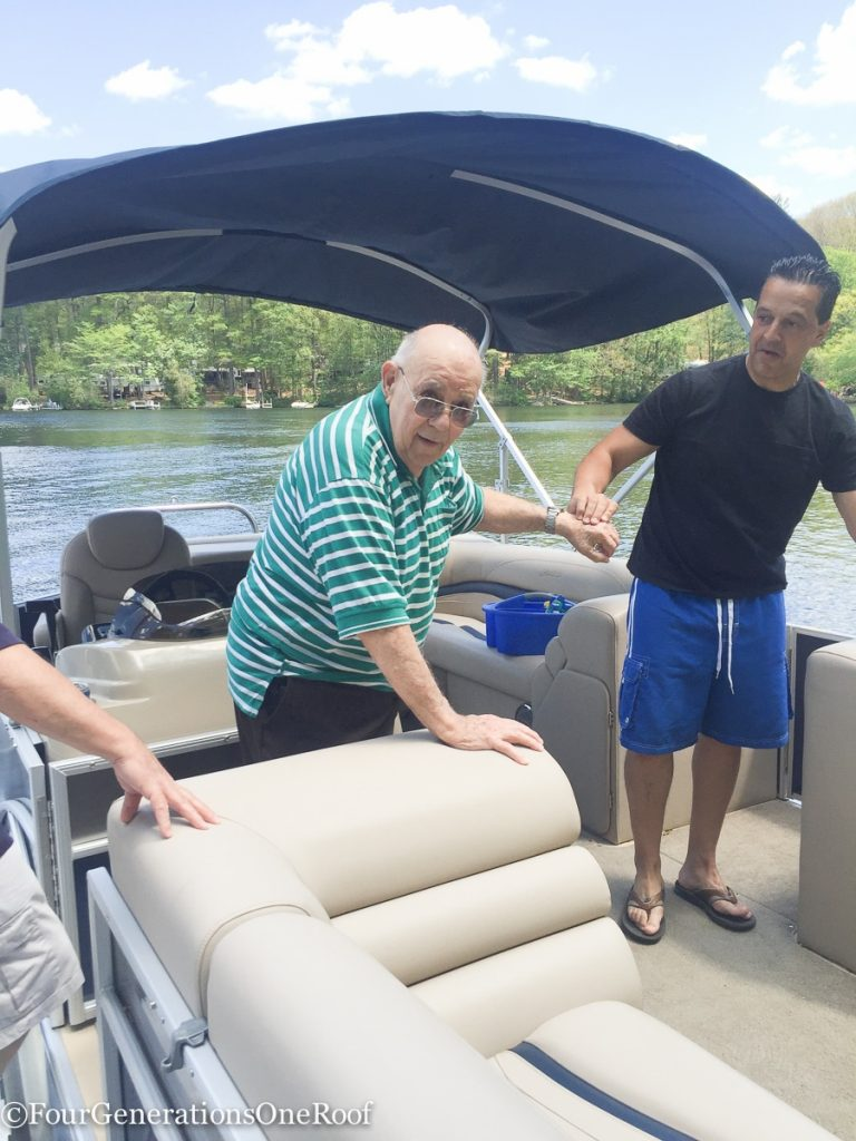 Family Boat Ride on the pontoon
