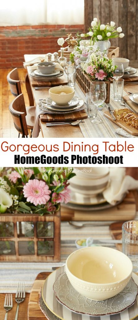 Gorgeous dining table {behind the scenes HomeGoods photoshoot}