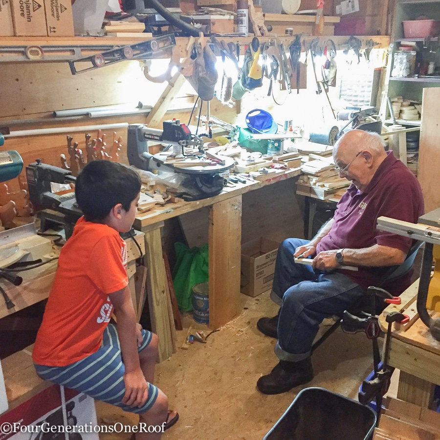 Grandfather's Lesson in Patience to my son {grandfather and great grandson