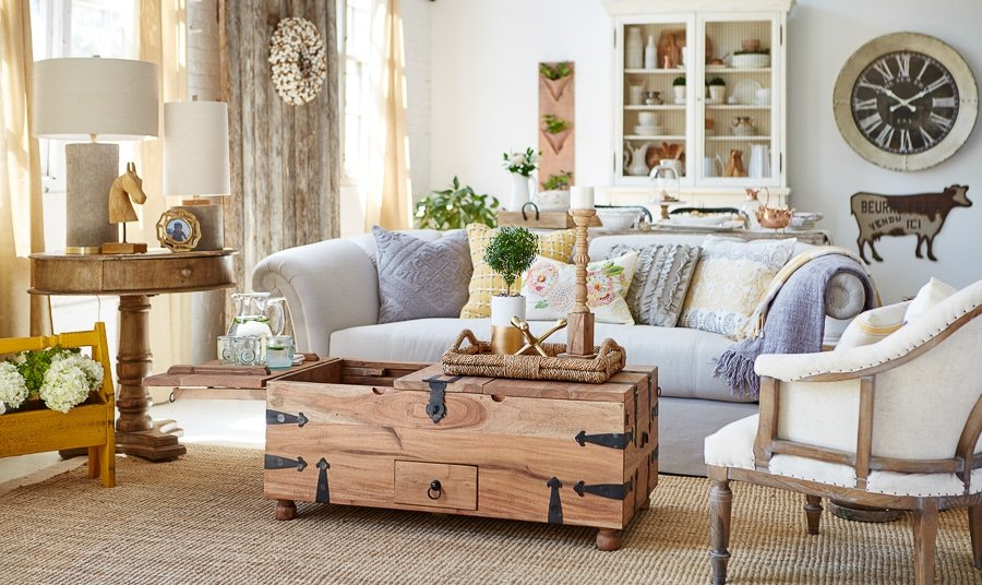 Modern Farmhouse Living Room Behind The Scenes At Homegoods Four Generations One Roof