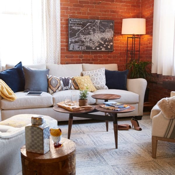 Mid-Century Modern Living Room Reveal {Behind the Scenes at HomeGoods}