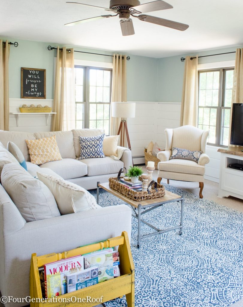 Family Room Summer Makeover - Four Generations One Roof