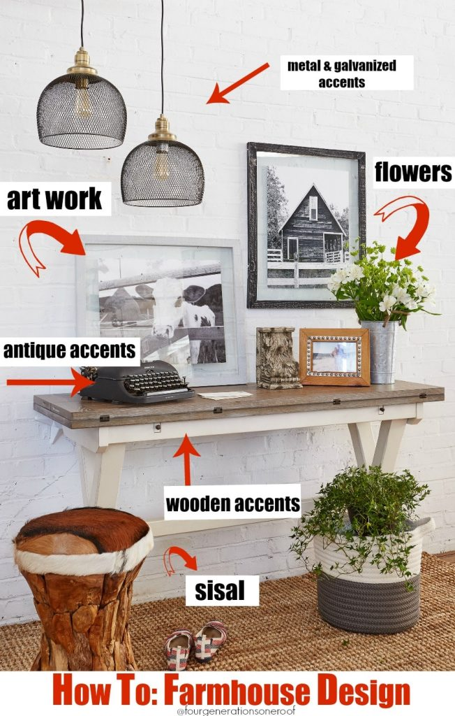 Modern farmhouse entryway {how to get the look}