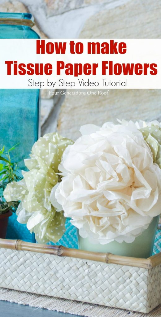 How to make tissue paper flowers four generations one roof how to make tissue paper flowers video tutorial step by step guide mightylinksfo