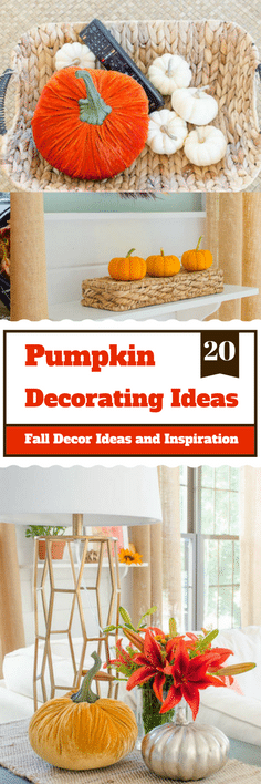 20 Pumpkin Decorating Ideas fpr ypur fall decpr | Four Generations One Roof