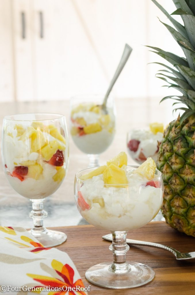 Delicious Pineapple Parfait Recipe / Hood Cottage Cheese with Pineapple tastes amazing
