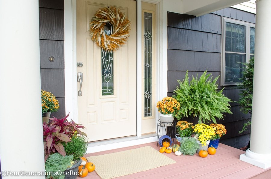 Fall decorating ideas - Fall Home Tour - Four Generations One Roof