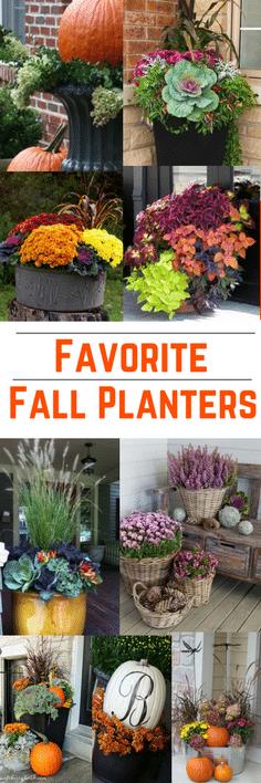 Favorite Fall Planters #fallplanters #fallplanterideas #falldecor #falldecorating