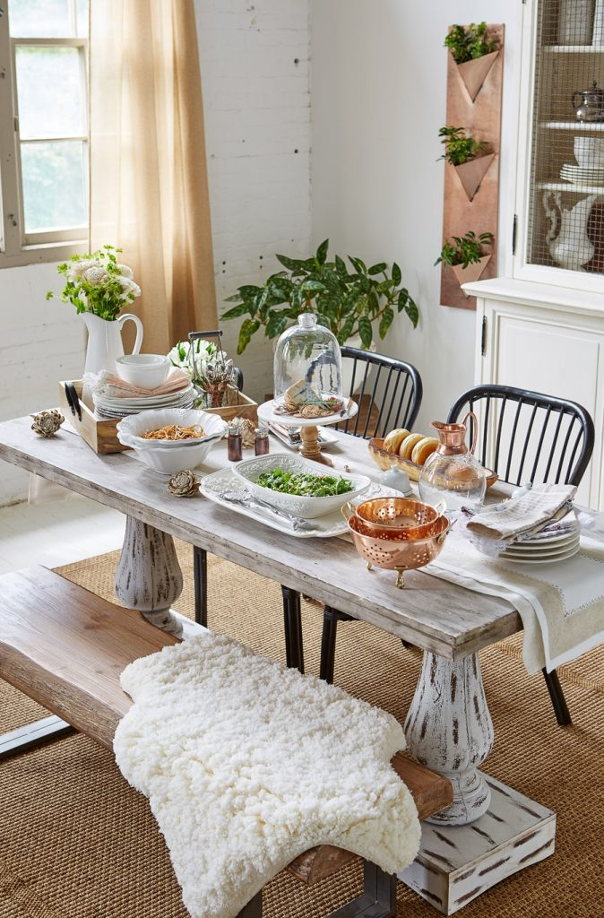 Modern Farmhouse Dining Room + Video {HomeGoods photoshoot ...