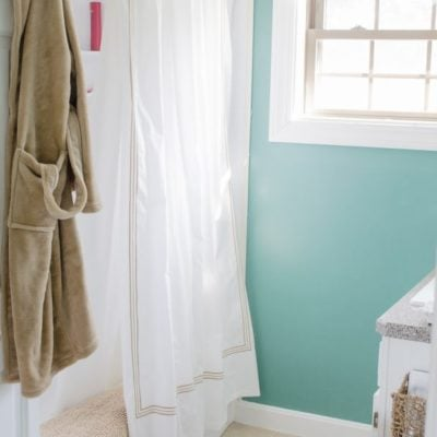Mini-Bathroom Makeover {Closet Makeover}